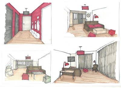 Dessin Et Collage D Un Decor Salon