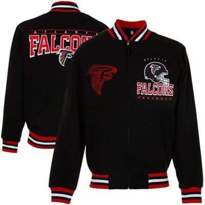 Atlanta Falcons Hardknock Full Zip Jacket - Black