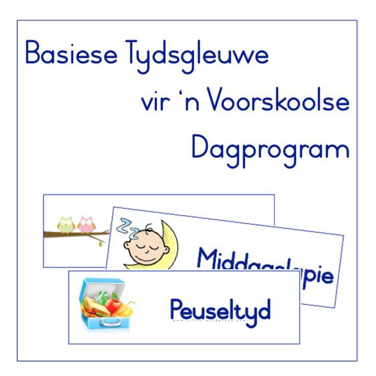 Dagprogram Tydsgleufflitskaarte