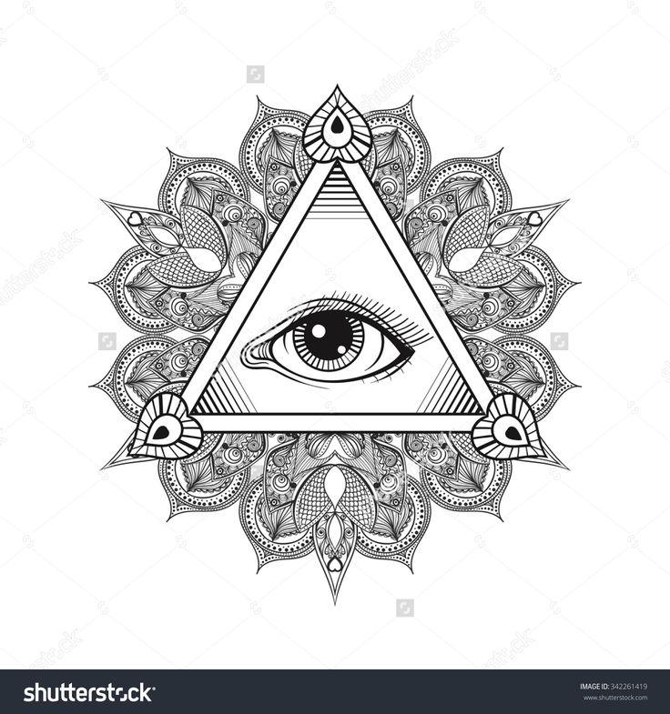 All Seeing Eye Pyramid Tattoo Art Stock ... - Shutterstock