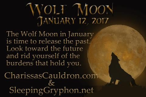 The Wolf Moon in January is time to release the past. Look toward the future and rid yourself of the burdens that hold you.