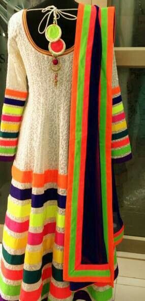 A colourful dress from India.