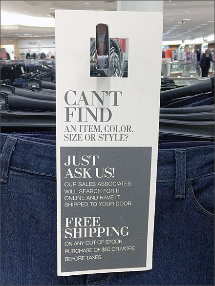 Lord & Taylor Can't Find door hanger.... could be useful idea with a little tweaking of the message....