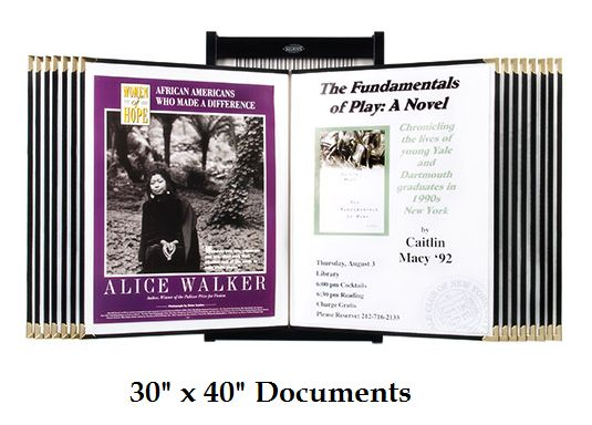 """Wall Poster Display (30"""" x 40"""") Includes: 15 or 25 Poster Sleeves"""