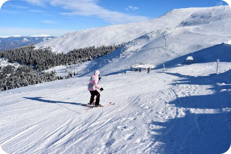 Ski pe partia Canal din Straja