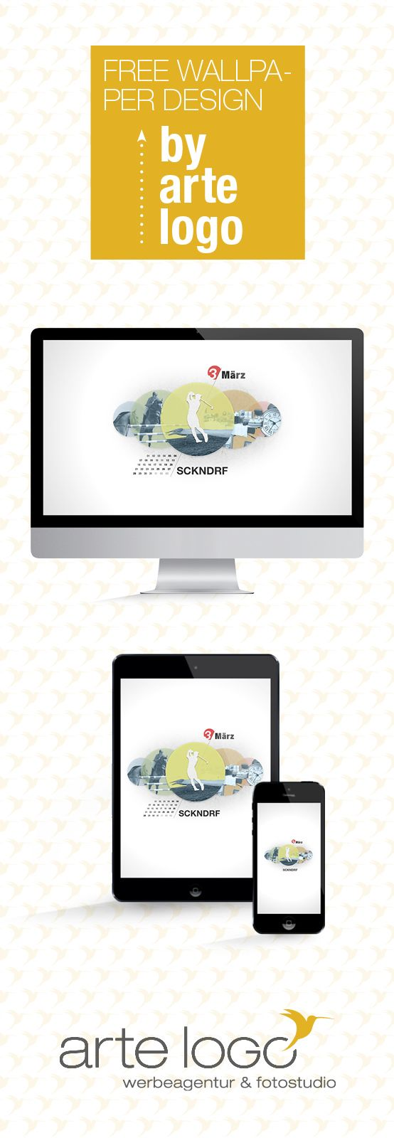 Free Wallpaper for Desktop, iPhone and iPad by arte-logo.de Free Download, Kalender 2016, selfmade, März Sickendorf Vogelsbergkreis
