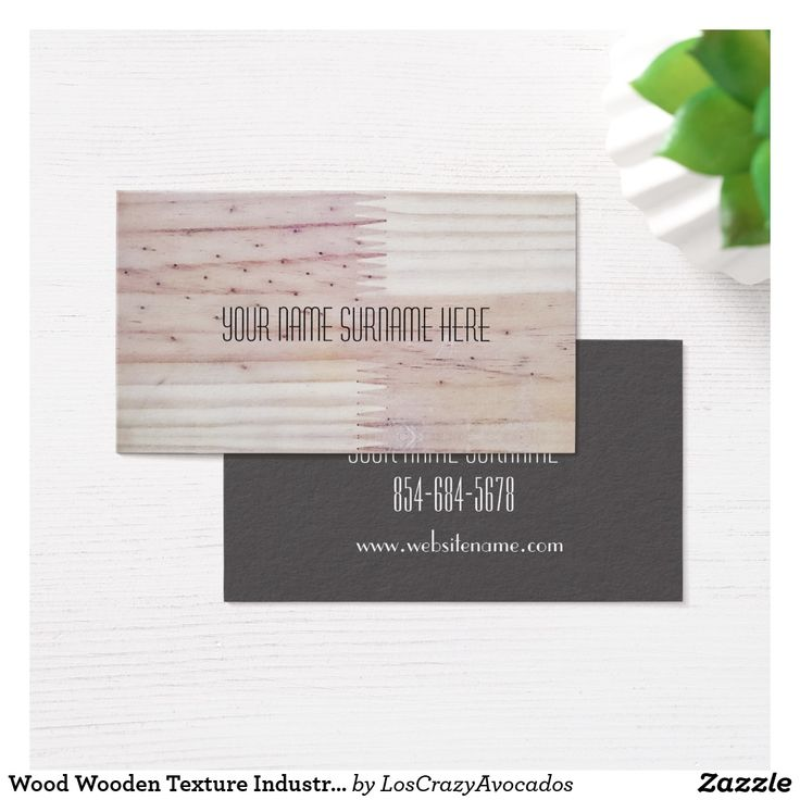 Wood Wooden Texture Industrial Feel Business Card