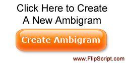 FlipScript Ambigram Products - has an ambigram generator