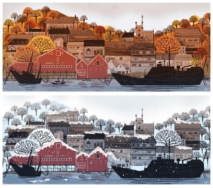 Lunenburg Nova Scotia by *beavotron ~she is a crazy good artist!~