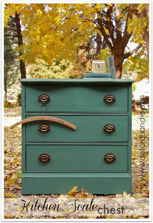 Small dresser painted in MMSMP Kitchen Scale