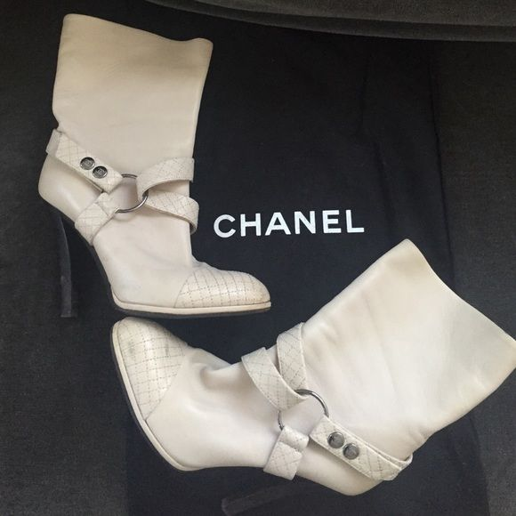 Authentic Chanel Boots Authentic Leather Chanel Boots. Great condition CHANEL Shoes Ankle Boots & Booties