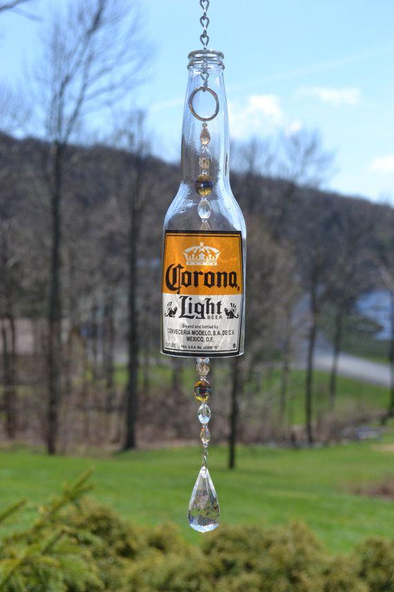 Beer Bottle Wind Chime/Corona Bottle Wind by WhiteRoosterShoppe