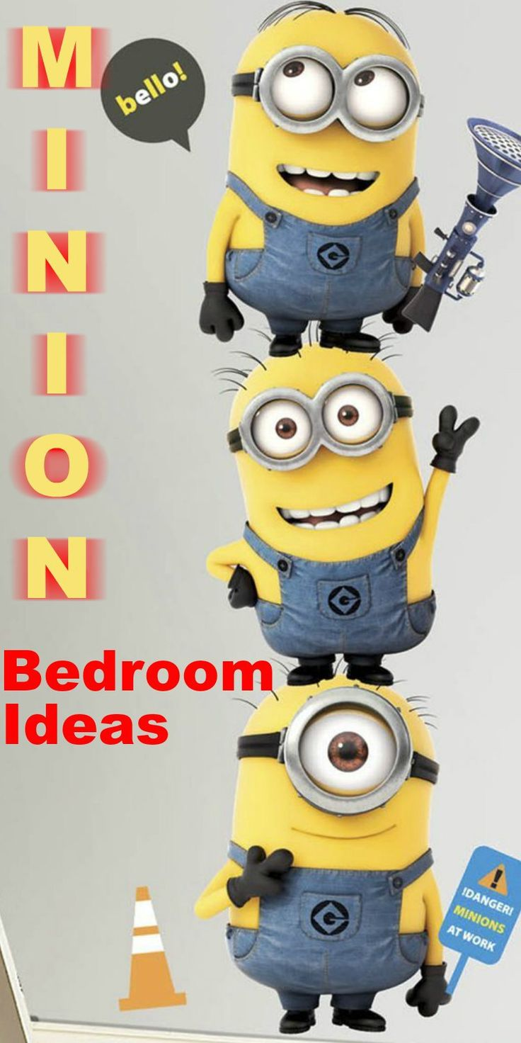 Minion Bedroom Ideas - Find everything you need to make the perfect Minion Bedroom for kids and adults