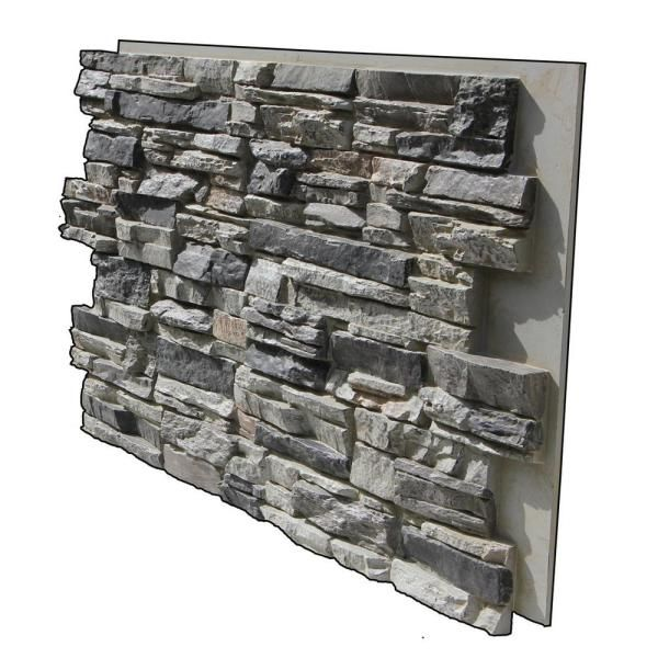 Tritan Bp Lightning Ridge 48 In X 24 In Class A Fire Rated Faux Stone Siding Panel Finished Gray Fox Lr 4824 Gfx The Home Depot Stone Siding Panels Stacked Stone Panels Stone Panels