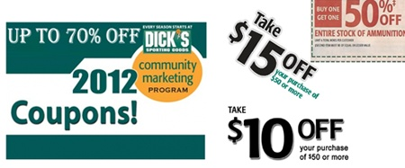Dicks Sporting Goods Coupons, Printable Coupons 2012 - $20 Off Codes \u2014 Pay less with Dicks Sporting Goods Coupons. Enjoy easy one-click savings