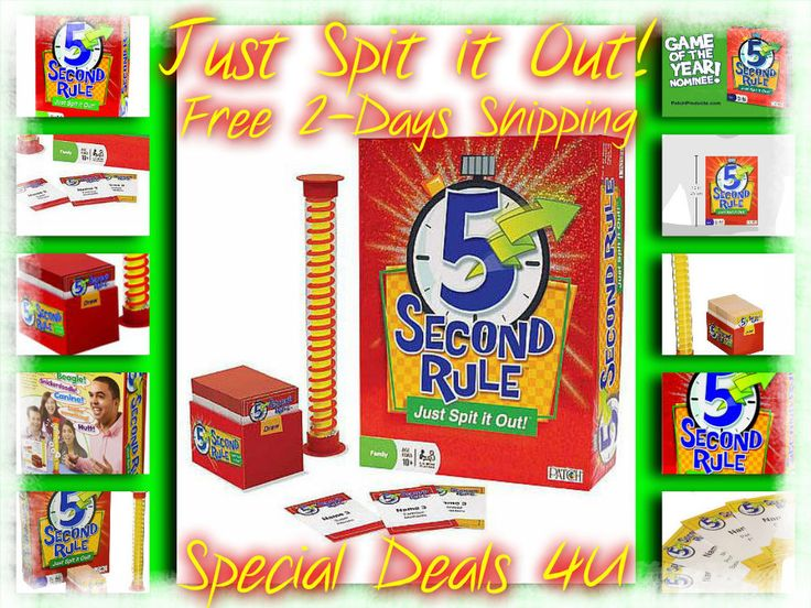 5 Second Rule Just Spit it Out! Gift Bundle Game Family Fun Party Toy Free Ship #Patch