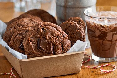 Chocolate chunk brownie biscuits