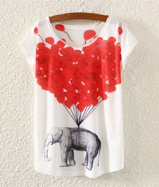 Cotton Animal Print T-shirt