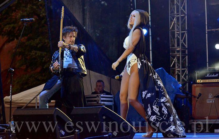 Doda - singer wearing Shabatin revolver costume specially designed for her concert.