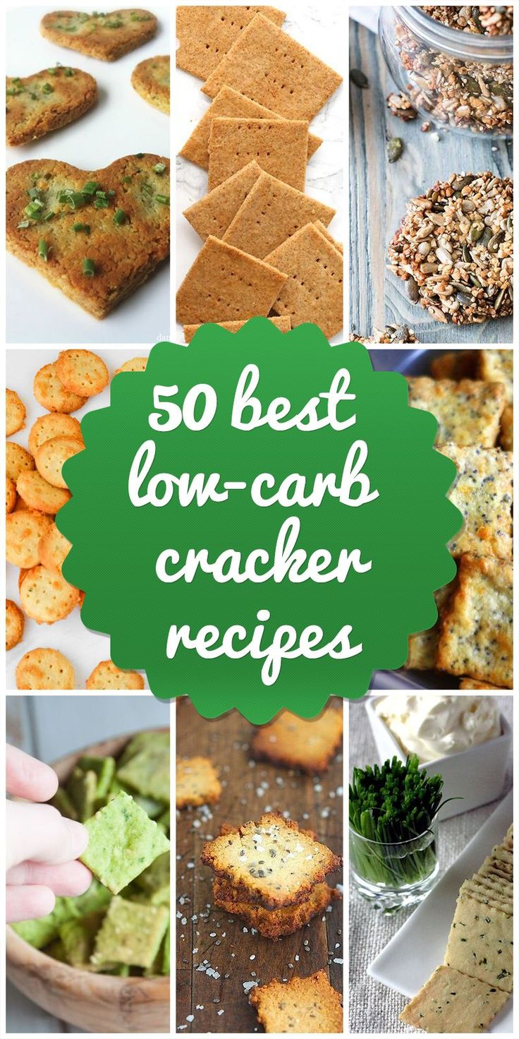 Fantastic collection of 50 Low-Carb Cracker Recipes from Low Carb Lab #healthylowcarb #healthy #lowcarb