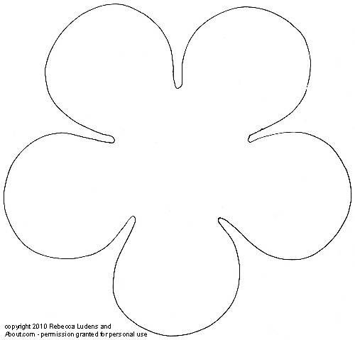 Flower petal pattern cut out images for Flower template 5 petals