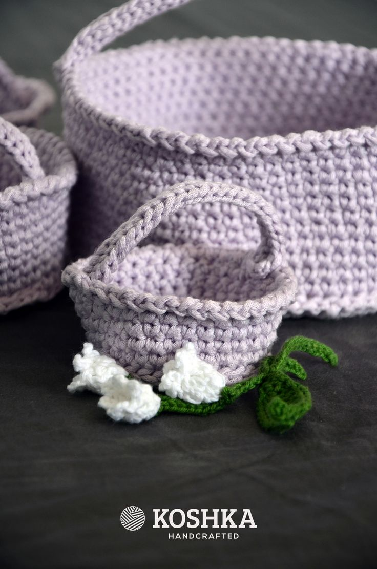 Crochet Baskets Set, perfect for Easter by Koshka | Buy at hello@koshka.pl