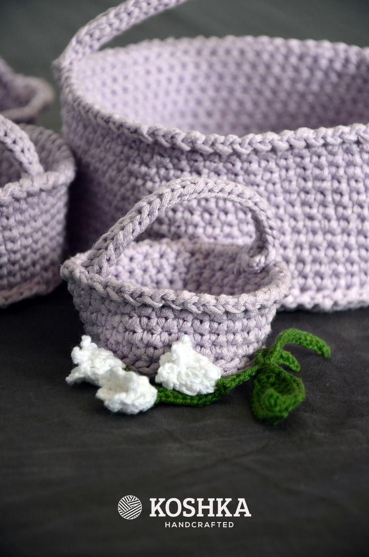 Crochet Baskets Set, perfect for Easter by Koshka | Buy at hello@koshka.pl