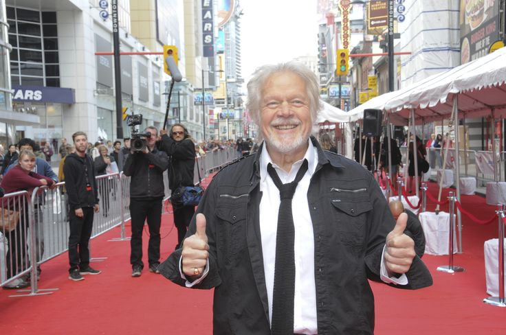 Randy Bachman on the Canada's Walk of Fame Red Carpet in 2012.