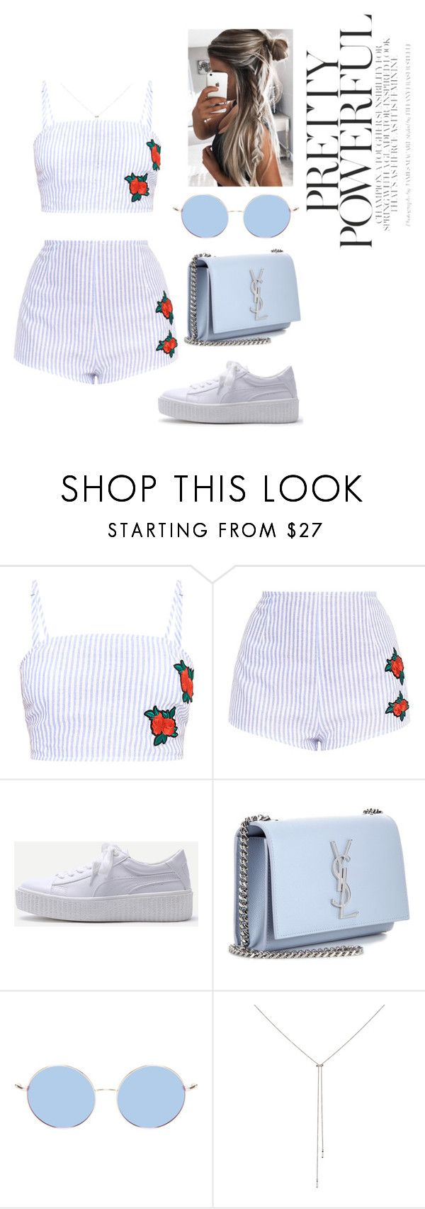 """""""Day #56"""" by andick on Polyvore featuring moda, WithChic, Yves Saint Laurent e Eva Fehren"""
