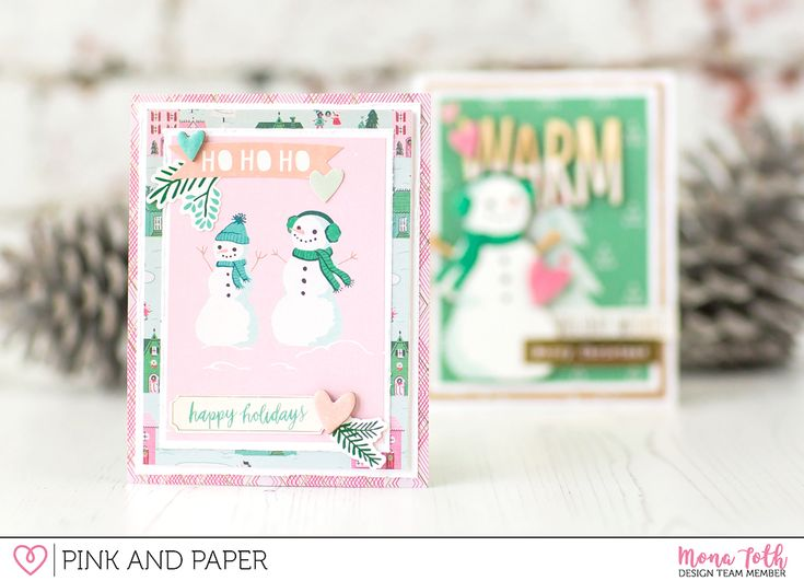 Christmas Cards with Crate Paper - Falala Collection - Pink and Paper Blog