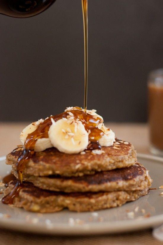 Banana oat pancakes - cookieandkate.com