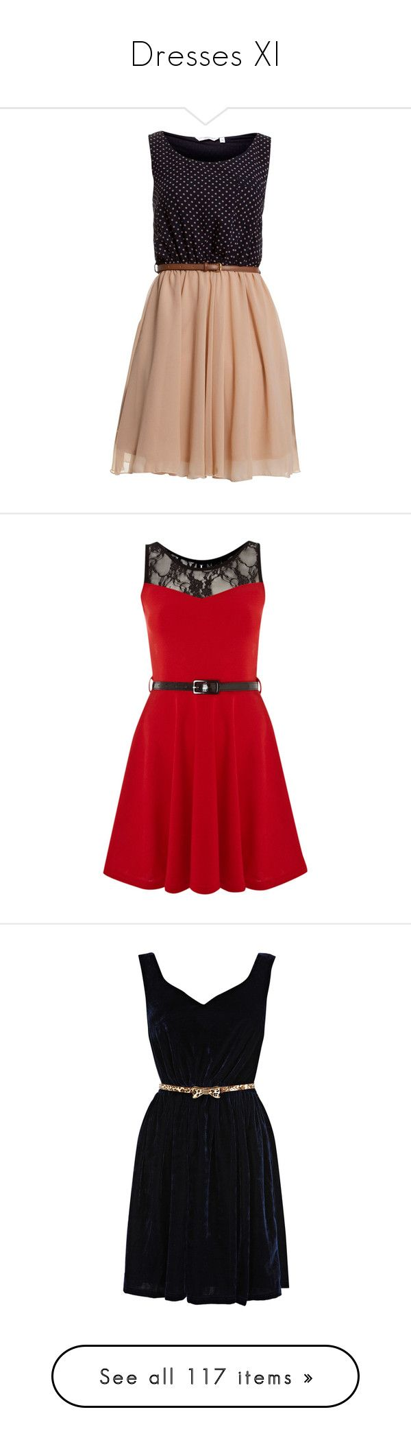 """Dresses XI"" by lucyheartyui on Polyvore featuring dresses, vestidos, robes, see through dress, going out dresses, night out dresses, sheer party dresses, navy polka dot dress, red i women"