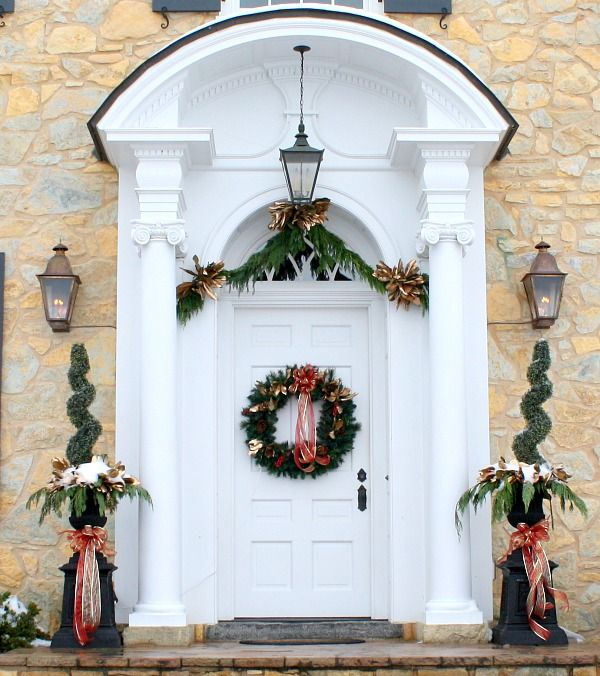 Exceptional Christmas Front Door Ideas Part - 8: Best 25+ Christmas Front Doors Ideas On Pinterest | Christmas Porch, Front  Door Christmas Decorations And Christmas Porch Decorations