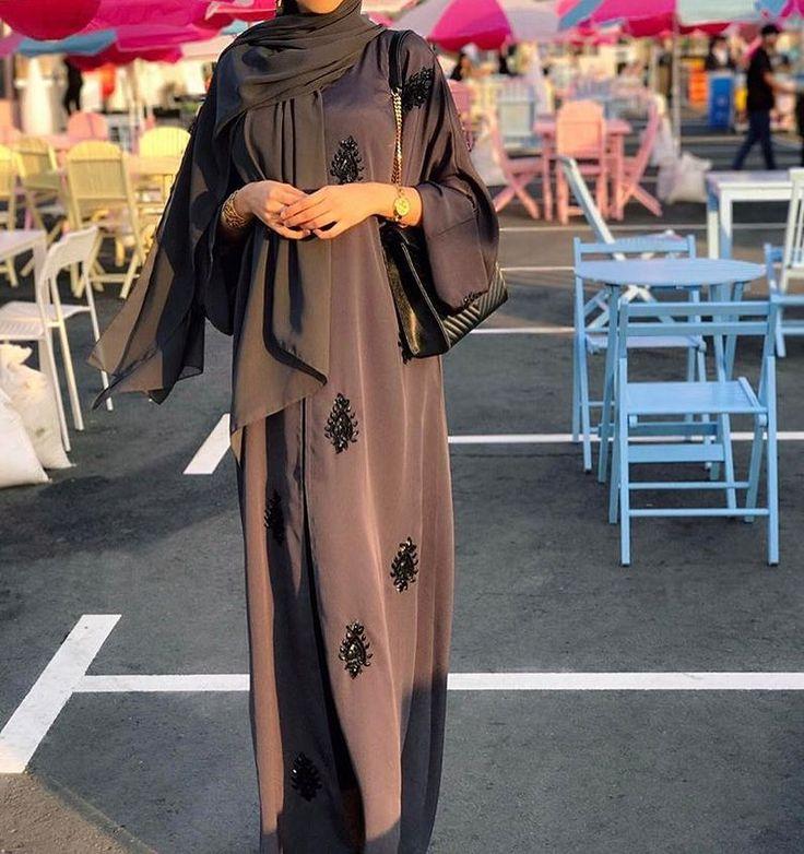 IG: HindAlmadani || IG: BeautiifulinBlack || Abaya Styles ||