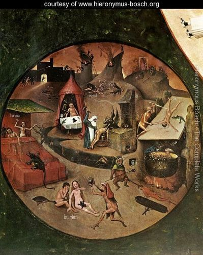 The Seven Deadly Sins (detail 1) c. 1480 - Hieronymous Bosch - www.hieronymus-bosch.org