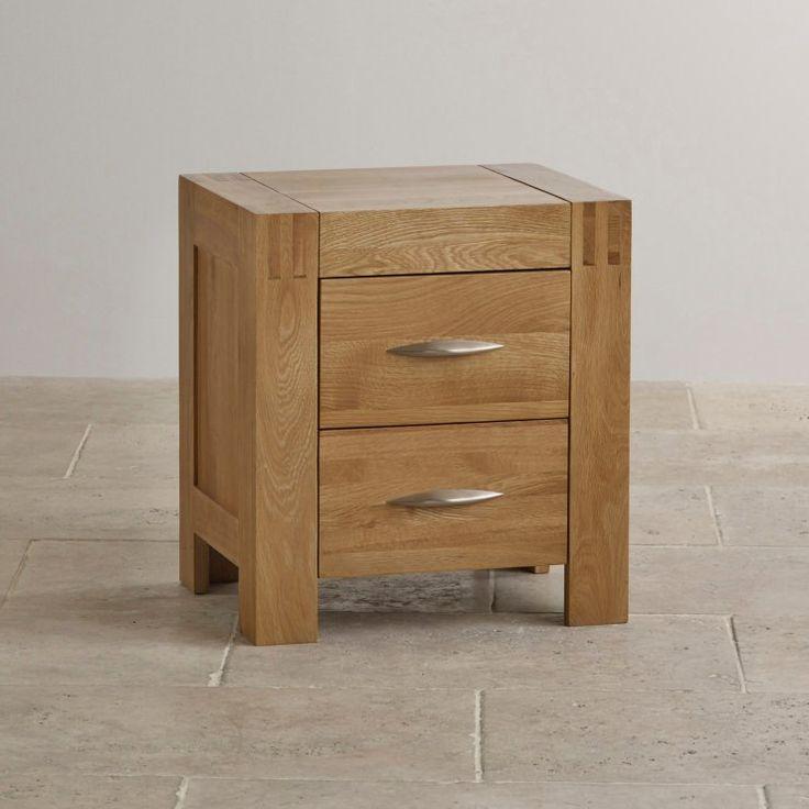 Alto Natural Solid Oak Bedside Table | Bedroom Furniture