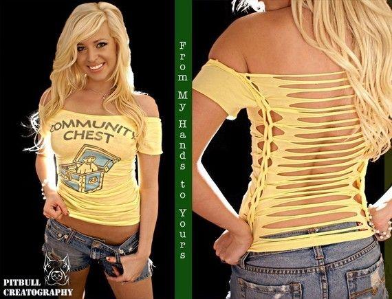 124 Best Cut Up Shirts Images On Pinterest Diy Clothes