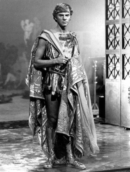 Malcolm McDowell star as Emperor Gaius Germanicus Caesar (Caligula) in Caligula.