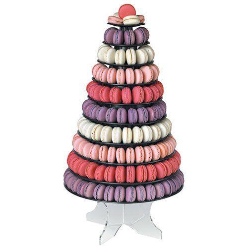 Cuisineonly , Pyramide a macarons couleur version noire. Cuisine  Autour De La Patisserie (