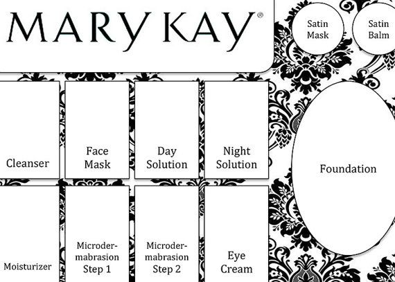 Mary Kay Tray Insert PDF Demo Party by PenelopeInkDesign on Etsy