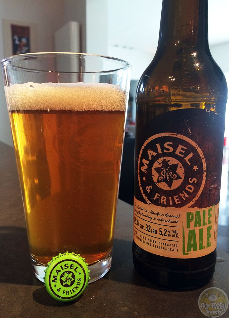 12-Apr-2015 : Maisel & Friends Pale Ale by Brauerei Gebr. Maisel. A fine pale ale, only 32 IBUs but you can still get some bitterness. A bit fruity, but not sweet. Well done. #ottbeerdiary