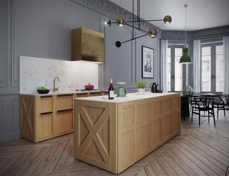 134 best Kitchens - modern images on Pinterest Architecture, Home - maison en beton banche
