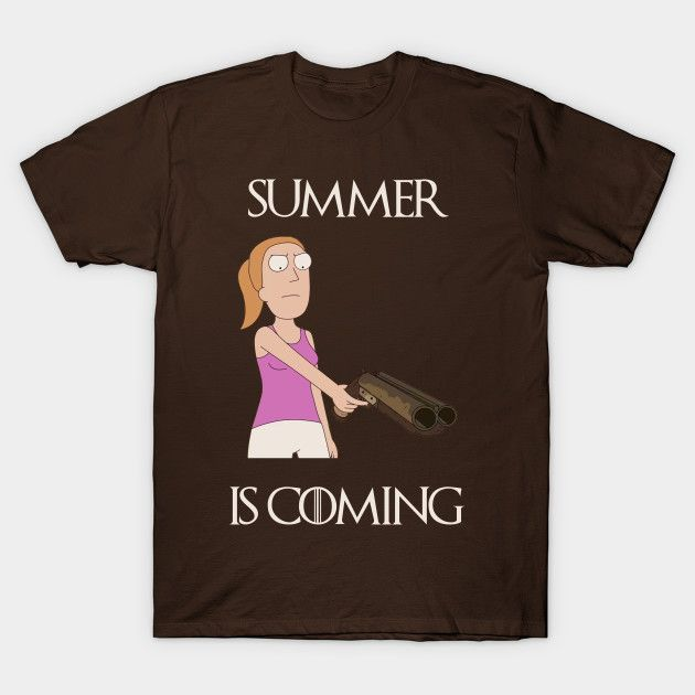 Summer is Coming - Rick and Morty T-Shirt. Parody Much-up between Rick and Morty and Game of Thrones Tee Shirt.