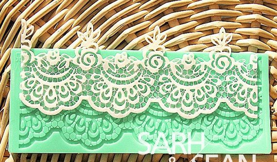 Floral leavers sugar lace mat flower instant sugar by TokiHomeDIY, $8.88