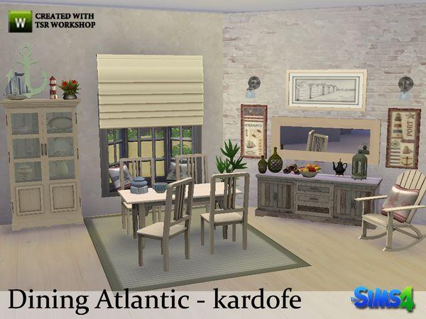 Atlantic Dining By Kardofe At TSR Via Sims 4 Updates Wood FurnitureDining Room
