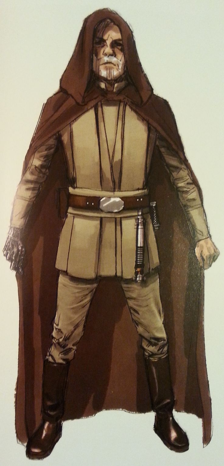 The Force Awakens Luke Skywalker costume concept art
