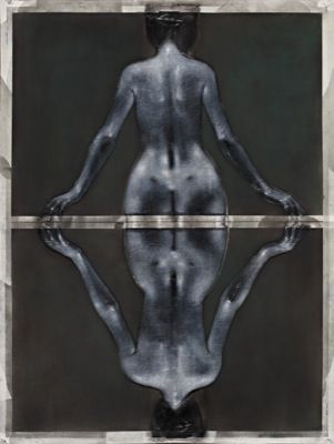 Bradbeer,Godwin The Sacrum Drawing - Chinagraph, pastel dust and silver oxide on paper Image Size: 185.5 x 140.5