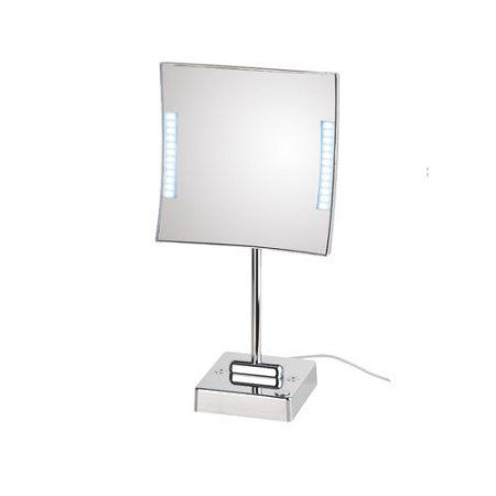 Pictures In Gallery WS Bath Collections Quadrolo LED Lighted x Magnifying Makeup Mirror