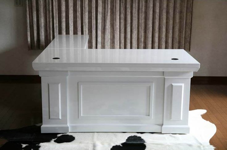 goldspace   Rakuten Global Market: ■ ■ new ■ ritzy 2BR presidential desk ■ Executive desk piano painted white ■ ■ 81652 WH