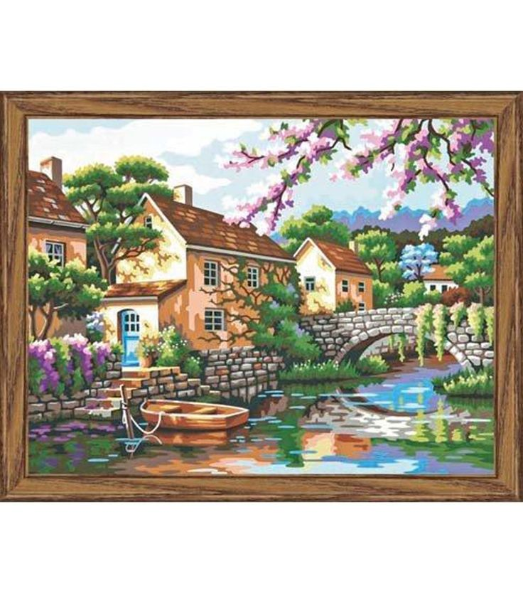 DIMENSIONS-Paint Works: Paint By Number. Its easy to achieve the subtle tones that make this design look so realistic. This package includes instructions; one paintbrush; one printed board; and twelve